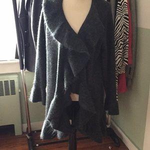 Style and company ruffled cardigan